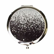 Danielle Creations Charcoal & Silver Compact Pocket Magnifying Make-Up Mirror
