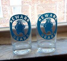 Rare 1960S Continental Football League Newark Bears Tumbler Glasses Ex.Cond