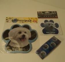 Maltipoo Dog Mixed Breed Mousepad Bookmark & Car Magnet 3 pc Gift Set 13125-124