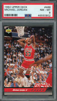 Michael Jordan Chicago Bulls 1992 Upper Deck Basketball Card #488 Graded PSA 8