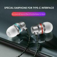 Stereo Kopfhörer für USB-C Typ-C Kopfhörer Mit Mic Draht-gesteuert Neue Hei E3Z0