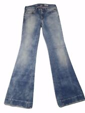Replay Teena Womens Jeans Sz 28/32 (Actual 27x33) Acid Wash Flare Stretch Italy