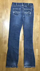 Cowgirl Tuff Don't Fence Me In Bling Jeans Womens' 28x37 Embroidered Studded