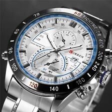 Montre Sport Luxe Curren Neuve Homme Bracelet Métal Date Fashion watch PROMO