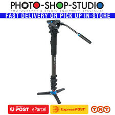 Benro Video Monopod Aluminium Kit A48FDS4 Flip Lock with VT2 Voet Stand S4 Head