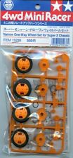 Tamiya 4WD Mini Racer Narrow One Way Wheel Set for Super X Chassis 2 Pack #15238
