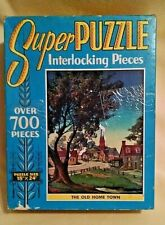 OLD HOME TOWN PUZZLE VINTAGE SUPER 700+ PC NO 7432 MADE USA MISSING 1 PC AS IS.