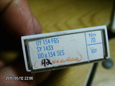 42 pc SCHMETZ sewing machine needles UY 154 FGS  NM 70 / 027