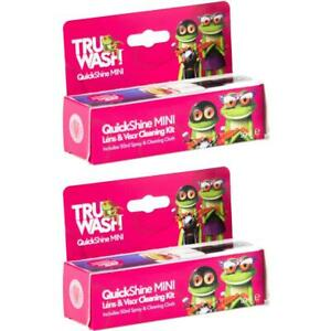 2 x TruWash QuickShine Mini Lens Cleaning Kit Includes 50ml Spray/Cleaning Cloth