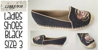 Womens Flat Shoes Black Size 3 Libra Pop Brand New FREE DELIVERY