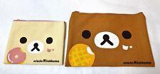 San-X Rilakkuma Korilakkuma Bear Face Pouch Case Set Doughnut Promo Kawaii