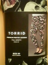 Torrid Women's Leggings Full Length Black Floral Skull Legging Plus Size 00 New