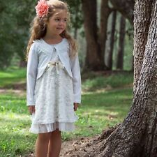 Girls Bolero Cardigan Jacket, Flower Girl Communion Confirmation Dress Poncho