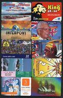 Lot 10 télécartes - International - Prépayées