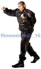 Everlast Black Deluxe EVA Sauna Suit - Boxing - Training - Fitness - Size: MD/LG