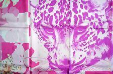 NIB Beautiful Cartier lily rose panthere jewelry  FRANCE 100% SILK foulard scarf
