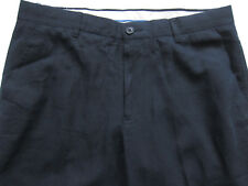 New Mens Marks & Spencer Blue Linen Trousers Waist 32 Leg 28 LABEL FAULT