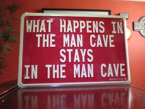 What Happens In The Man Cave Stays Metal Bar Sign Captain Leisure Metal 09C-0277