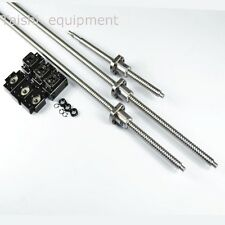 3 BALLSCREW RM1605-450/750/1150MM BALL SCREWS + 3 SETS BK/BF12 SUPPORT+MACHINED
