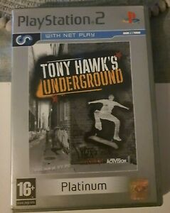 Tony Hawk's Underground Platinum - Playstation 2 PS2 - with manual