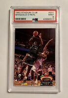 SHAQUILLE O'NEAL 1992 Topps Stadium Club Members Choice #201, PSA 9 Mint, Rookie