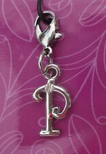 cc P INITIAL CHARM Cherish Charms with crystal