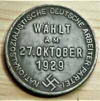 W.W.2 GERMAN COLLECTORS COIN 1929 AHITLER  R.MARK