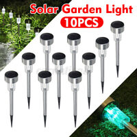 Waterproof 10Pcs LED Solar Garden Light Outdoor Landscape Deco Lighting