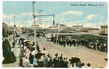Postcard - Wildwood, New Jersey Industrial Parade Down Street - 1910