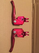 NOS MX Levers vintage old school bmx brake levers anodised RED original 80s