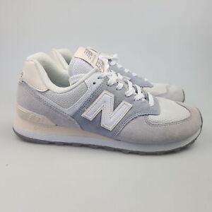 Women's NEW BALANCE '574' Sz 8 US Shoes Grey White VGCon | 3+ Extra 10% Off