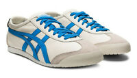 Onitsuka Tiger Mexico 66 Trainers  Cream dolphin Blue Asics Leather Ship World