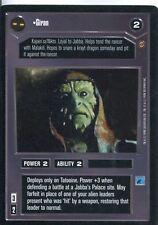 Star Wars CCG Jabbas Palace Card Giran