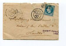 Empire Napoléon III lauré sur lettre