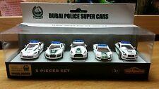 MAJORETTE 5 PCS SET DUBAI POLICE SUPER CARS VIPER R8 GTR AVENTADOR CONTINENTAL