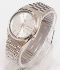 SNXS73K1 SEIKO 5 Stainless Steel Band Automatic Men's Silver Watch Brand New !!