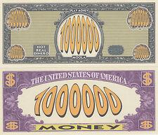 100 Play Money $1,000,000 Novelty Money Bills Lot