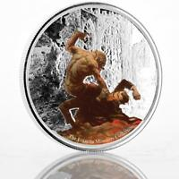 2017 1 oz Frazetta Monsters Werewolf vs. The Count .999 Silver Color Coin #A461