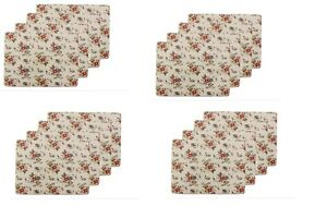 Set of 8 Summer Daisy Design Table/Placemat - Cream - By Lesser & Pavey