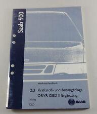 Werkstatthandbuch Saab 900 Krafstoffanlage, Ansauganlage ORVR OBD II Modell 1998
