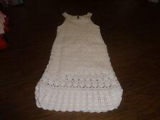 RARE BABY GAP 5T 5 YRS WHITE CROCHETED DRESS GORGEOUS BEACH PICS