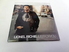 "LIONEL RICHIE ""JUST FOR YOU"" CD SINGLE 1 TRACKS COMO NUEVO"