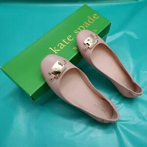 New  Kate spade new York ballet flat sz 6M women shoes leather pink