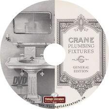 1926 Crane Plumbing Catalog {Antique Toilets Sinks Bath Tubs Faucets on DVD