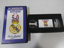 REAL MADRID EL RESURGIR HISTORIAS DE UN 5-0 VHS TAPE COLECCIONISTA 1995