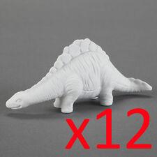 12x Stegosaurus Dinosaur Ceramic Bisque Ready to Paint Plaster Kids Craft Party