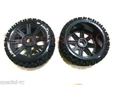 Louise RC  1/8   Buggy Uphill Tire with Black Spoke Wheel 2pcs #L-T3271SB