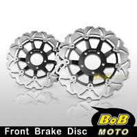 Stainless Steel Front Brake Disc Rotor 2pcs For Suzuki SV 650 S 1999-2001 2002