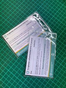Vaccination card clear protector, ID Card Holder Protector (2)