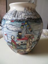 MOORCROFT   VERY LARGE COMING TO AMERICA  TRIAL VASE